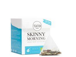 TEATOX Skinny Morning Bio Gruener Tee mit Mate Pyramidenbeutel