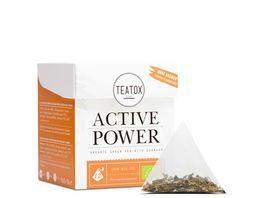 TEATOX Active Power Bio Gruener Tee mit Guarana Pyramidenbeutel