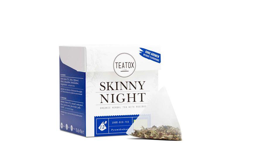 TEATOX Skinny Night Bio Kraeutertee mit Rooibos Pyramidenbeutel