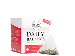 TEATOX Daily Balance Bio Kraeutertee mit Zitronengras Pyramidenbeutel