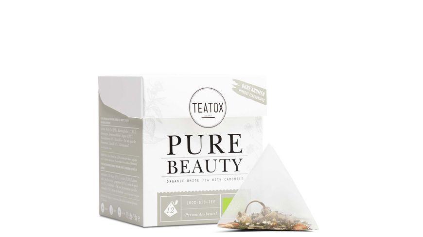 TEATOX Pure Beauty Bio Weisser Tee mit Kamille Pyramidenbeutel