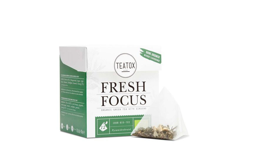 TEATOX Fresh Focus Bio Gruener Tee mit Ginseng Pyramidenbeutel