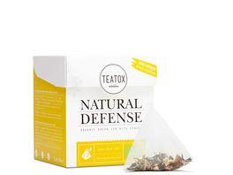 TEATOX Natural Defense Bio Gruener Tee mit Ingwer Pyramidenbeutel