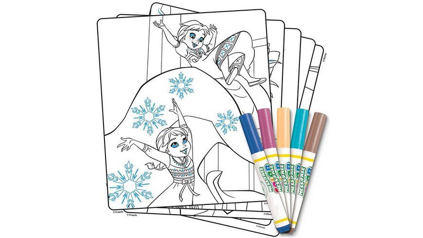 Vivid Crayola Disney Die Eiskoenigin Color Wonder Malbuch