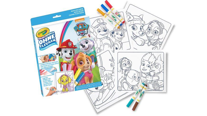 Vivid Crayola Paw Patrol Color Wonder Malbuch