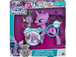 Hasbro My little Pony Movie Prinzessin Twilight Sparkle und Spike der Drache Singendes Duo