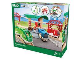 BRIO Bahn Reisezug Set mit Busbahnhof
