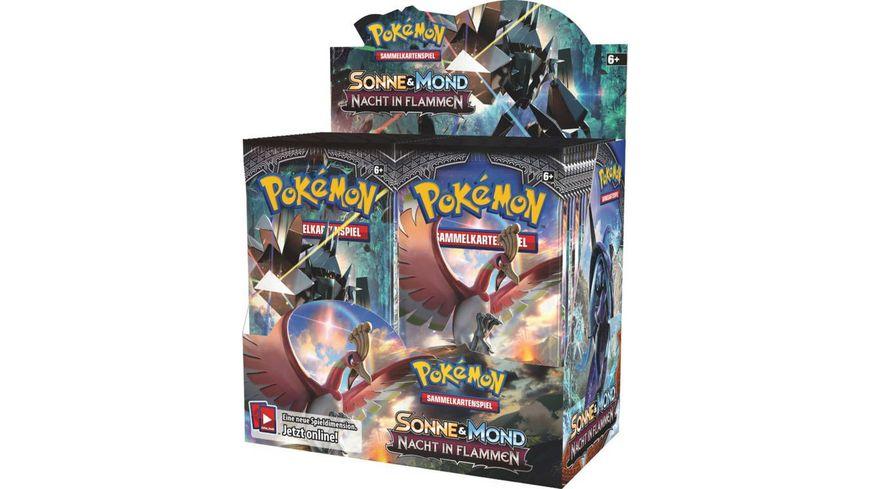 Pokemon Sammelkartenspiel Sonne und Mond Nacht in Flammen Booster