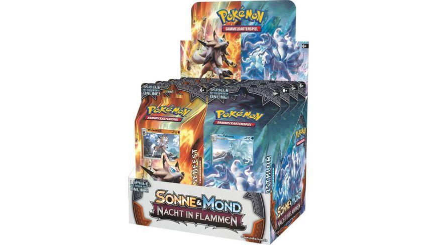 Pokemon Sammelkartenspiel Sonne und Mond Nacht in Flammen Themendeck sortiert