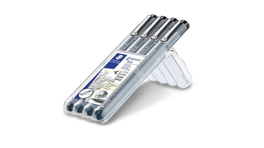 STAEDTLER Fineliner Pigment Liner 308 4er Pack