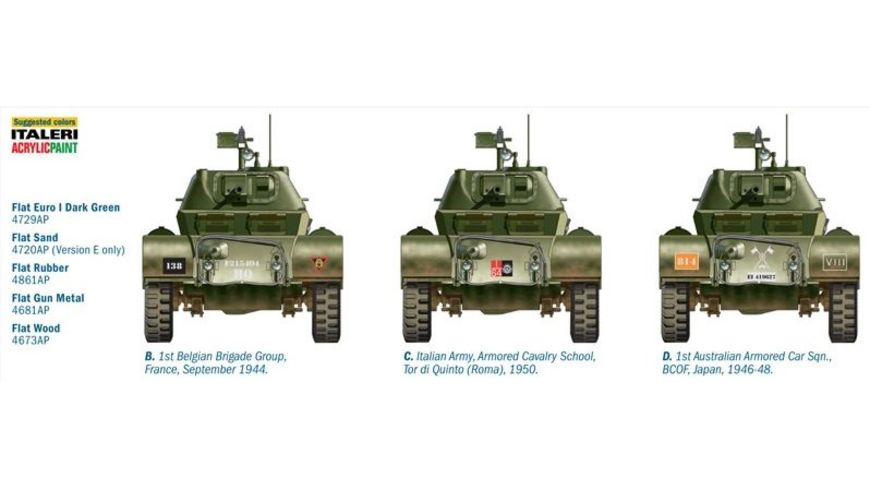 Italeri 6552 Militaerfahrzeug STAGHOUND MK I spaete Version 1 35