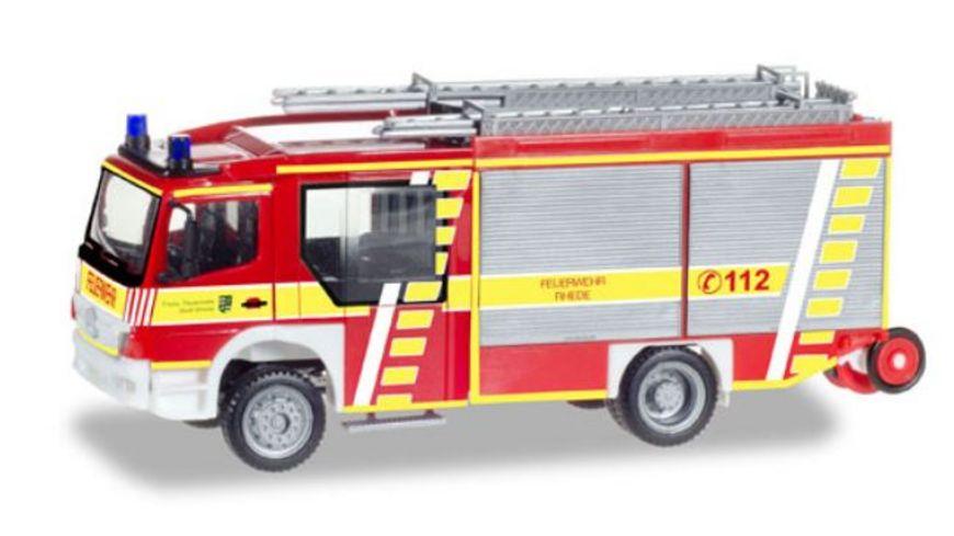 Herpa 093132 Mercedes Benz Atego Ziegler Z Cab LF 20 Feuerwehr Rhede