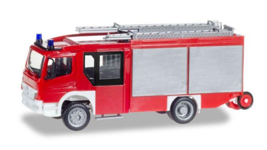 Herpa 093200 Mercedes Benz Atego Ziegler Z Cab LF 20 unbedruckt Feuerwehr