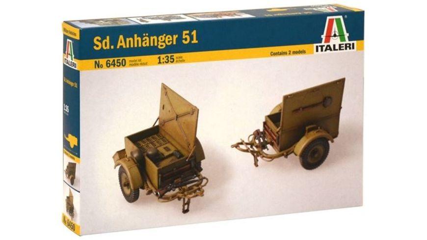 Italeri 6450 Militaerfahrzeug SD ANHANGER 51 1 35
