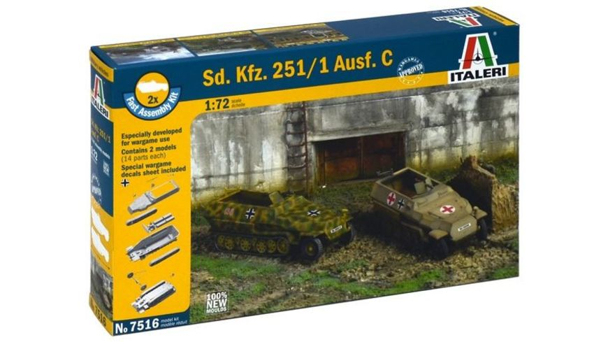 Italeri 7516 Militaerfahrzeug Sd Kfz 251 1 Ausf C 1 35