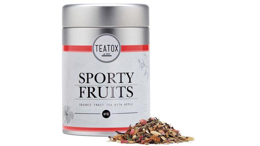 TEATOX Sporty Fruits Bio Fruechtetee mit Apfel