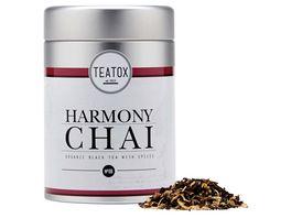 TEATOX Harmony Chai Bio Schwarzer Tee mit Gewuerzen