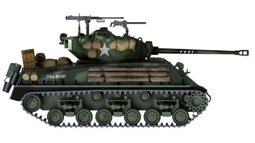 Italeri 6529 Militaerfahrzeug M4A3E8 SHERMAN FURY 1 35