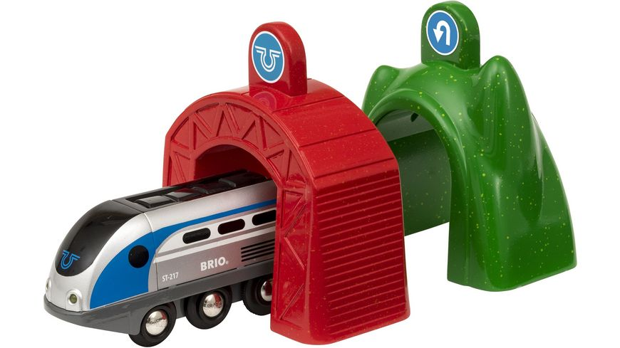 BRIO Bahn SMART Tech Zug mit Actiontunnels