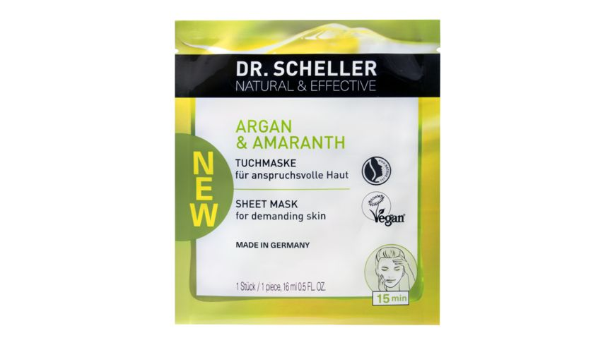 Dr Scheller Arganoel Amaranth Tuchmaske