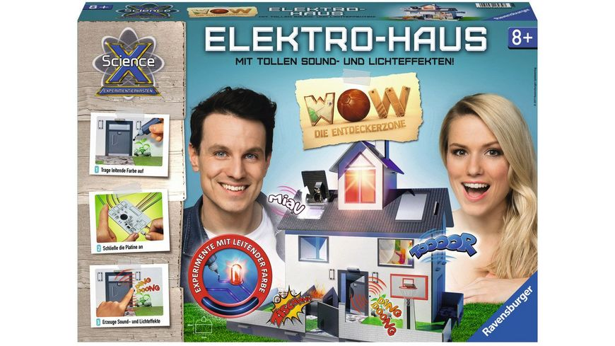 Ravensburger Beschaeftigung ScienceX Elektrohaus