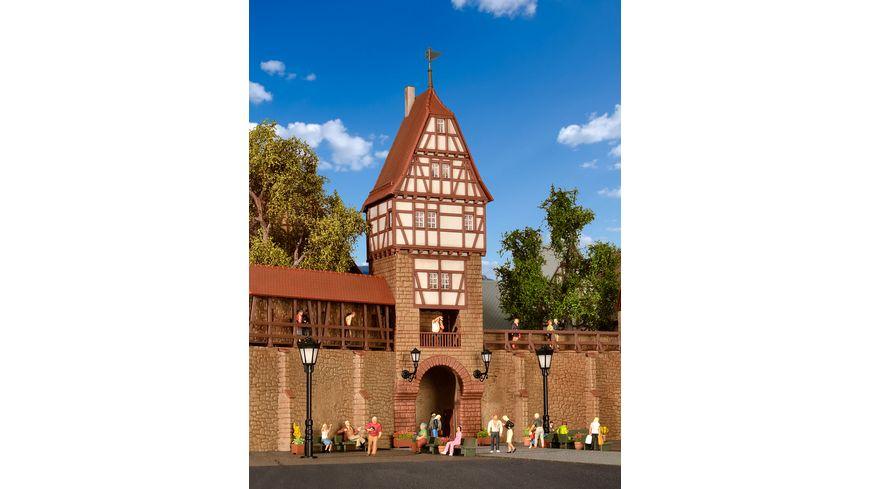 Viessmann 38914 Kibri H0 Stadtmauer mit Fachwerkturm in Weil