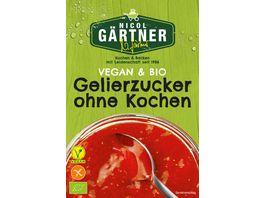 NICOL GAeRTNER BIO Gelierzucker ohne Kochen