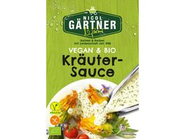 NICOL GAeRTNER BIO Kraeuter Sauce