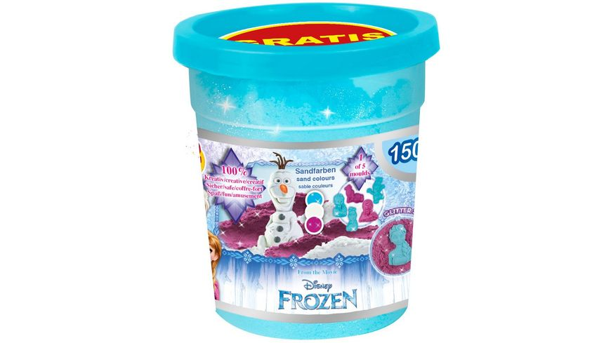 CRAZE Magic Sand Frozen Nachfuellpack 150 g 1 Form sortiert