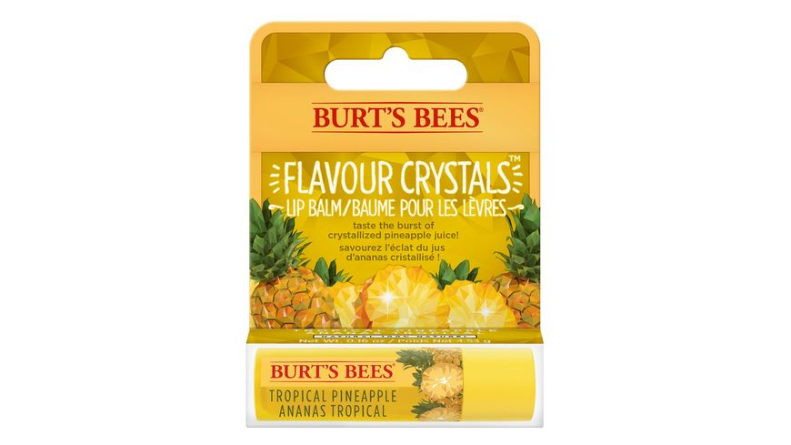BURT S BEES Flavour Crystals Lip Balm Tropical Pineapple