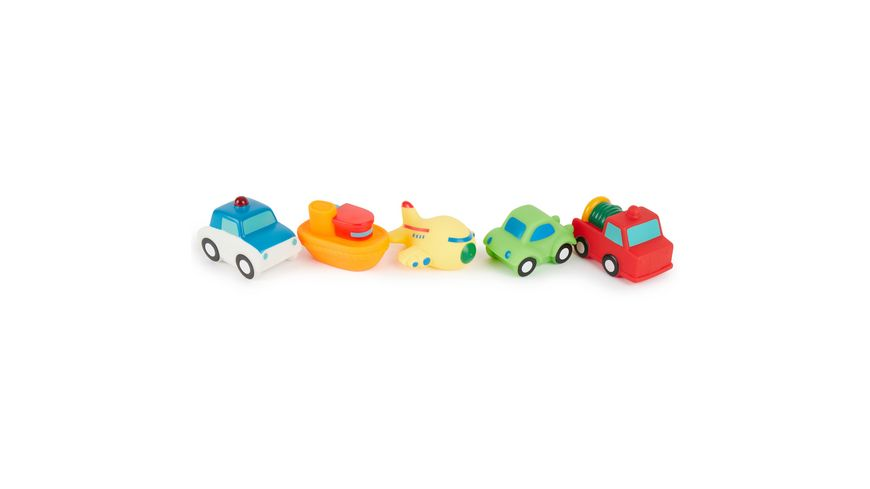Bieco Set Badewannen Spielzeug Fahrzeuge 5 teilig