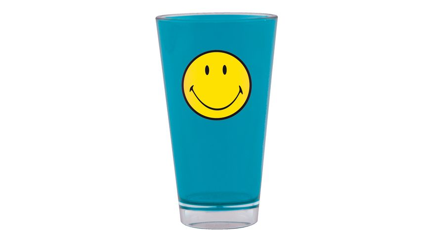 zak Trinkbecher Smiley aqua blau 330 ml