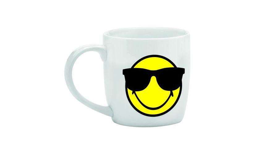 zak Tee Tasse Smiley Sonnenbrille weiss 350 ml
