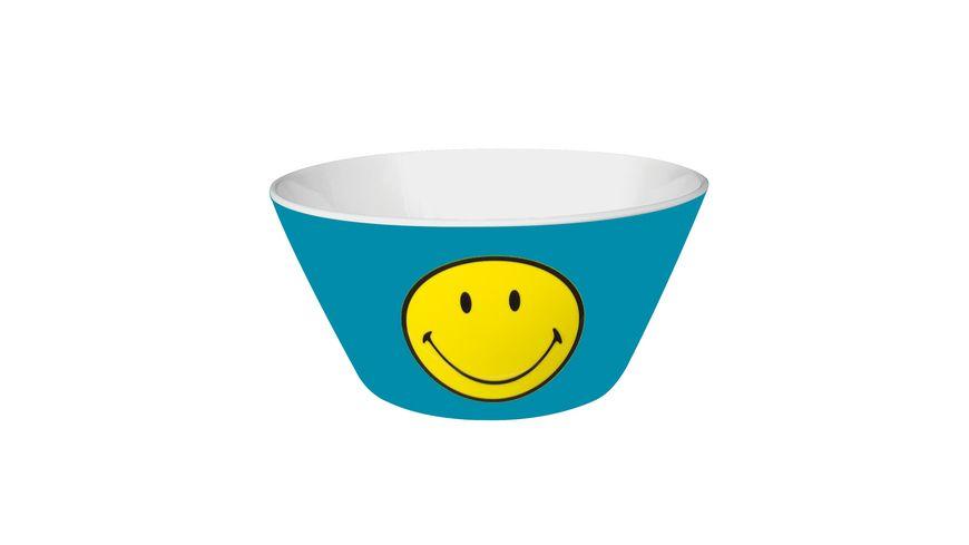 zak Mueslischale Smiley aqua blau