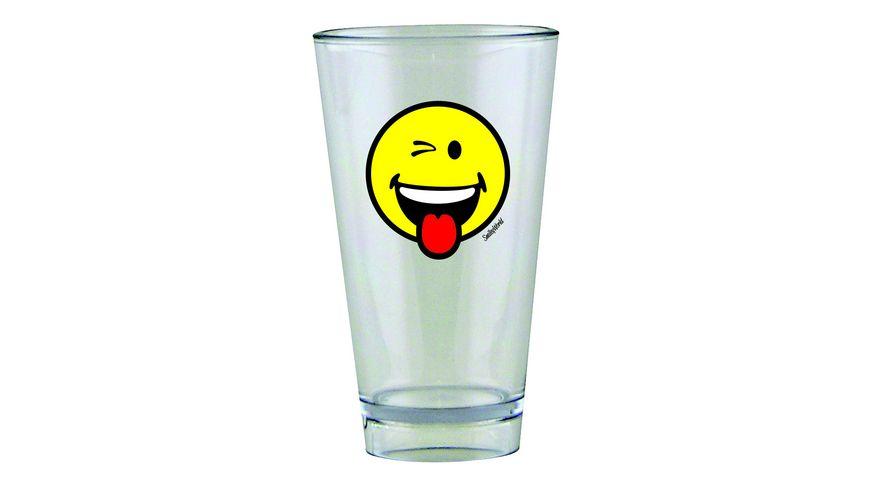 zak Glas Smiley Zwinkern 300 ml