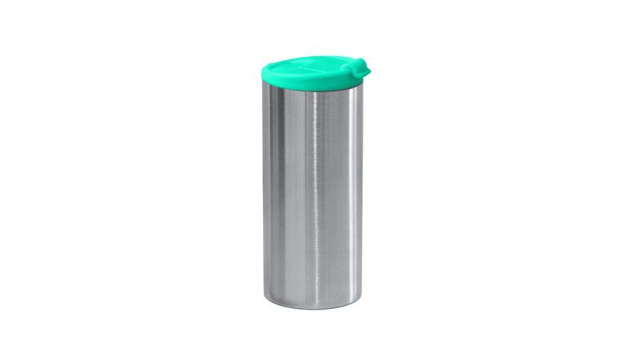 zak Edelstahl Vakuumflasche doppelwandig aqua blau 350 ml