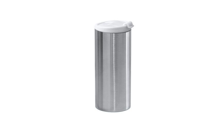 zak Edelstahl Vakuumflasche doppelwandig weiss 350 ml