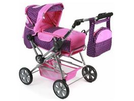 Bayer CHIC 2000 Road Star Kombi Puppenwagen dots purple pink