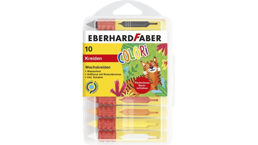 EBERHARD FABER Wachsmalkreiden wasserfest in 10er Kunststoffbox