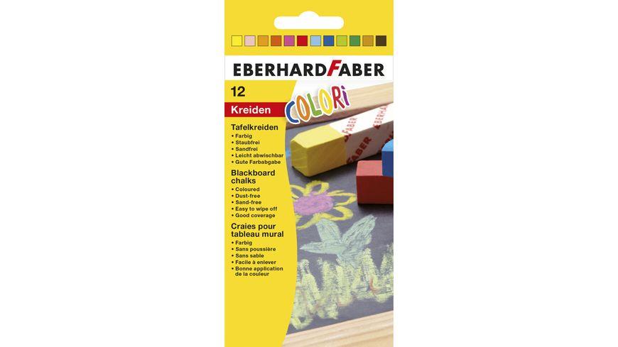 EBERHARD FABER Wandtafelkreide farbig im 12er Kartonetui