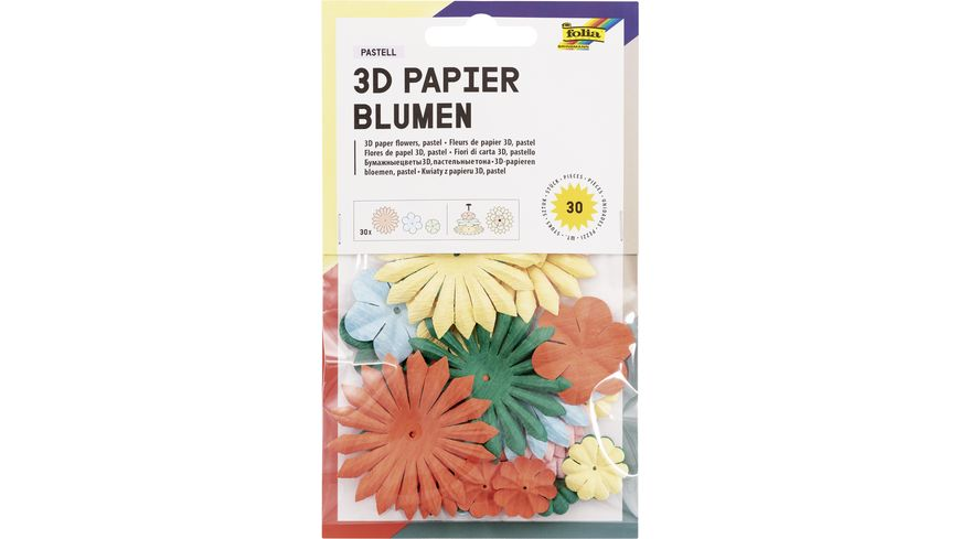 folia Papierblumen farbig