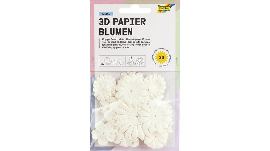 folia Papierblumen weiss