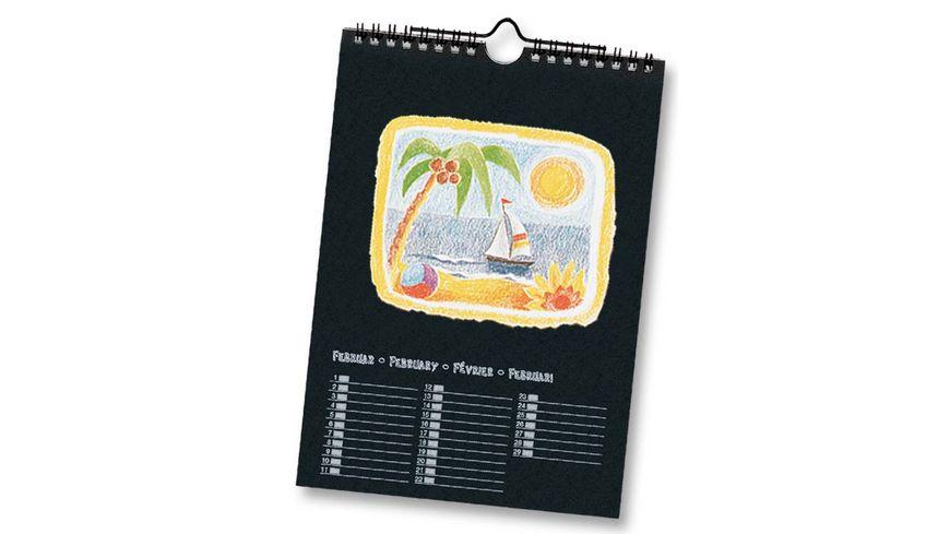 folia Dauerkalender mit Spiralbindung