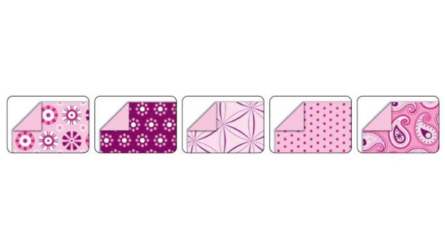 folia Faltblaetter Basics rosa 50 Blatt 15 x 15 cm