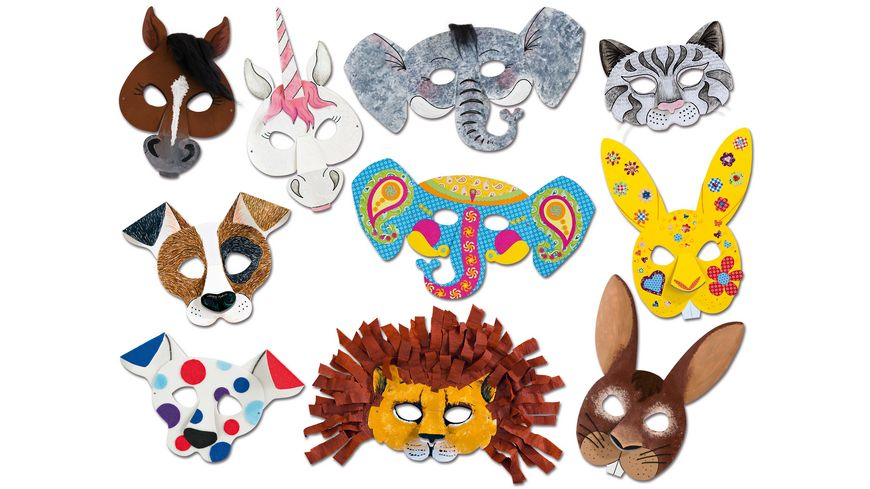 folia Kindermasken Tiermotive