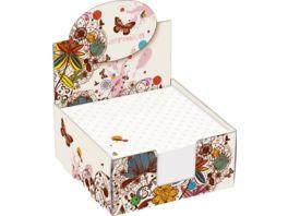 folia Notizbox mit Motivdruck 300 Blatt 9 x 9 cm