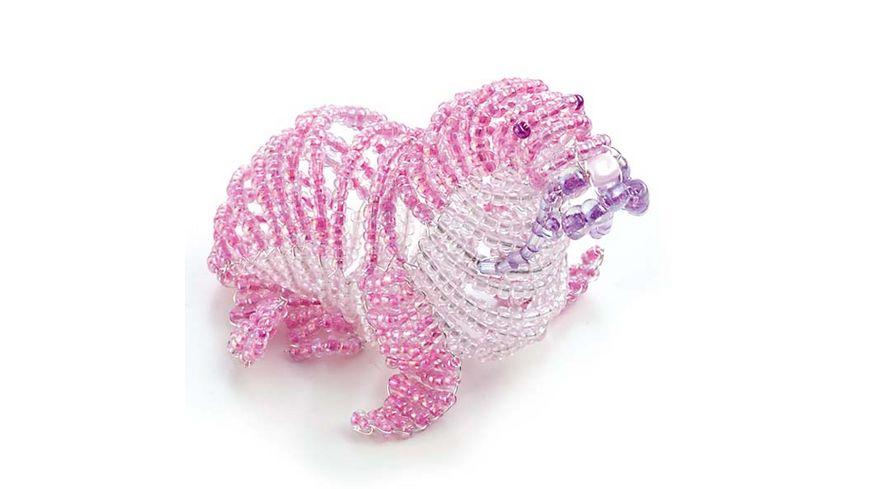 folia Rocailles Perlen Set rosa lila