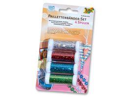 folia Paillettenbaender Set 4 Spulen a 3m