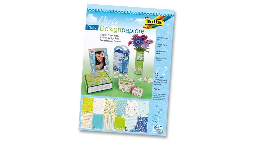 folia Designpapierblock 12 Blatt DIN A4
