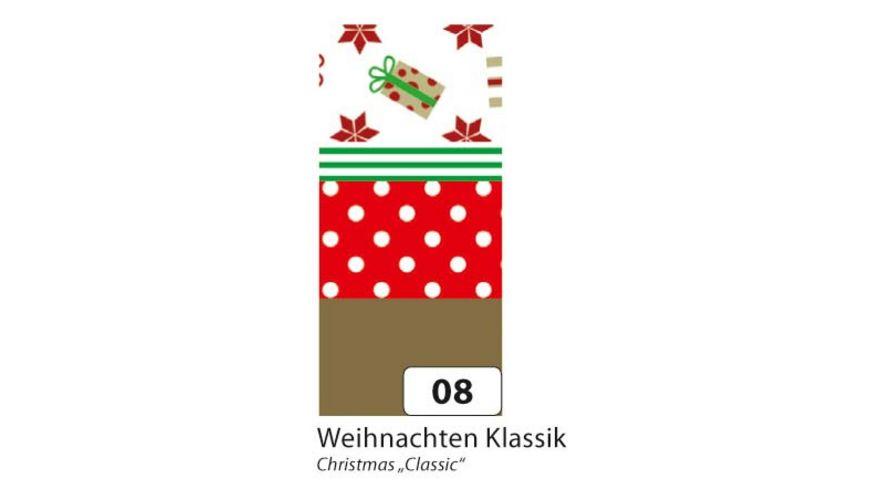 folia Washi Tape Weihnachten Klassik 4er Set